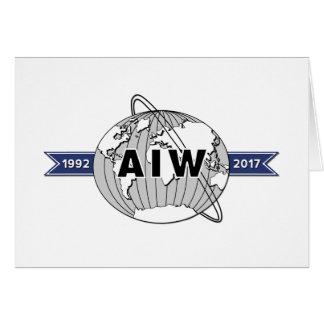 AIW 25. Jahrestags-Logo-Raum-Anmerkungs-Karte Mitteilungskarte