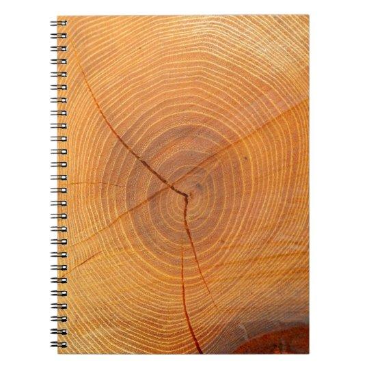 Akazien-Baum-QuerschnittsFoto-Notizbuch Spiral Notizblock