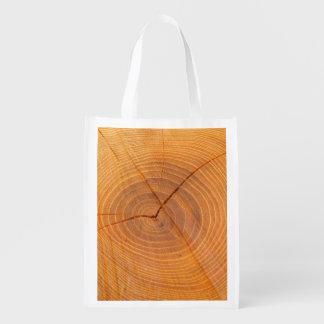 Akazien-Baum-wiederverwendbare Querschnittstasche Wiederverwendbare Einkaufstasche