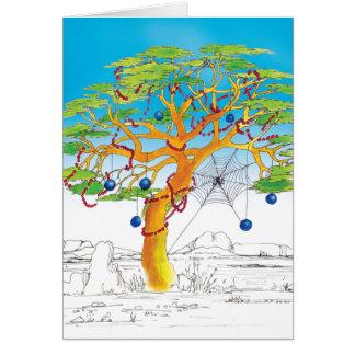Akazien-Weihnachtsbaum Karte