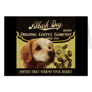Akbash Hundemarke - Organic Coffee Company Grußkarte