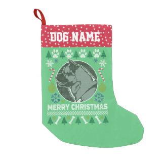 Akita-Hundezucht-hässliche Weihnachtsstrickjacke Kleiner Weihnachtsstrumpf