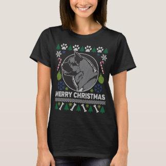 Akita-Hundezucht-hässliche Weihnachtsstrickjacke T-Shirt
