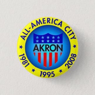 Akron aller amerikanische Stadt-Knopf Runder Button 3,2 Cm