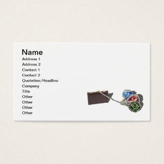 Aktenkoffer-schleppende Glas-Flöße Visitenkarte