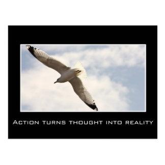Aktion macht Gedanken zu Wirklichkeit Postkarte
