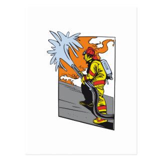 Aktions-Feuerwehrmann Postkarte
