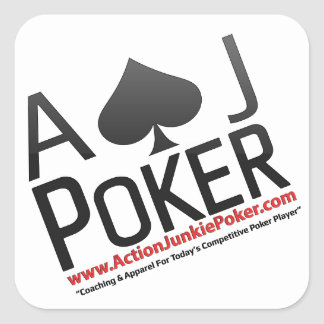 Aktions-Junkie-Poker Quadratischer Aufkleber