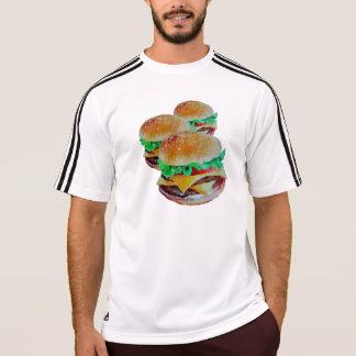 Aktive Abnutzung des Hamburgers, ursprünglicher T-Shirt