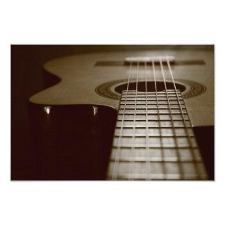 Akustikgitarre Foto Drucke