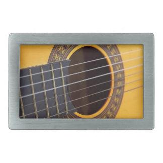 Akustikgitarre-Hintergrund Rechteckige Gürtelschnallen
