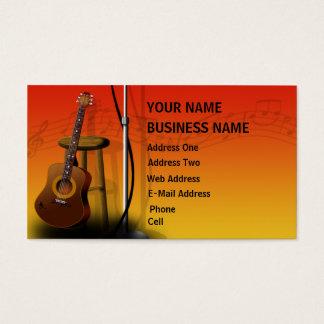 Akustikgitarre - Musikindustrie-Karte Visitenkarte