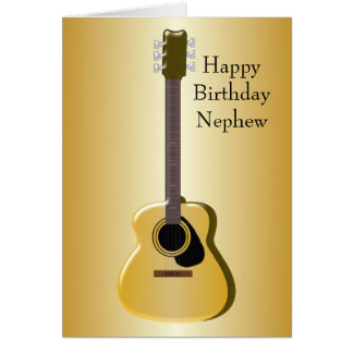 Akustikgitarre-Neffe-Geburtstag Karte