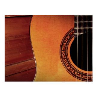 Akustikgitarre Postkarte
