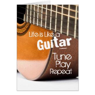 Akustikgitarre-Zitat-Karte Grußkarte