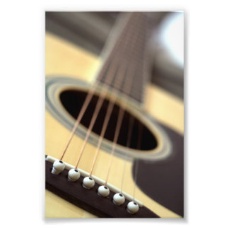 Akustikgitarrenahaufnahme-Foto Fotografischer Druck