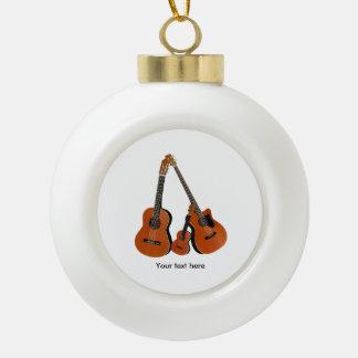 AkustikgitarreUkulele und akustischer Baß Keramik Kugel-Ornament