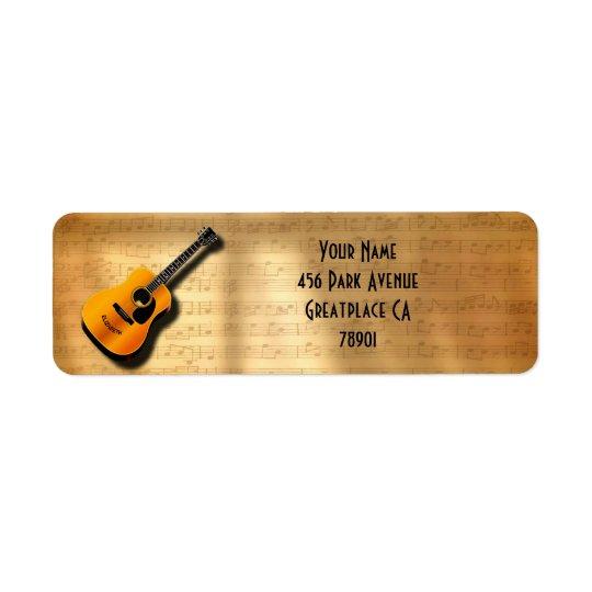 Akustische Vintage Gitarre mit Rücksendeetiketten