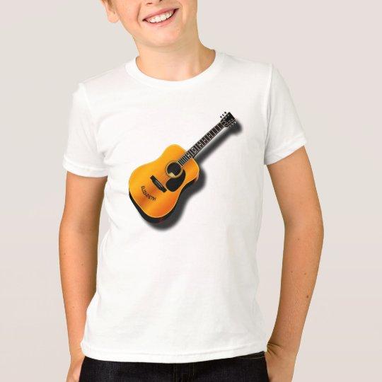 Akustische Vintage Gitarre mit T-Shirt