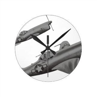 AL-81_Reed_Kinert_Aviation_Art_Album_Image_ Runde Wanduhr