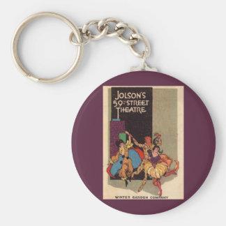 Al Jolsons Theater playbill Abdeckung 1923 Schlüsselanhänger