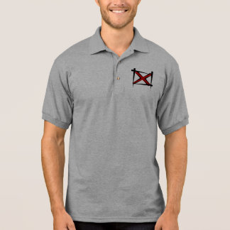 Alabama-Bürsten-Flagge Polo Shirt