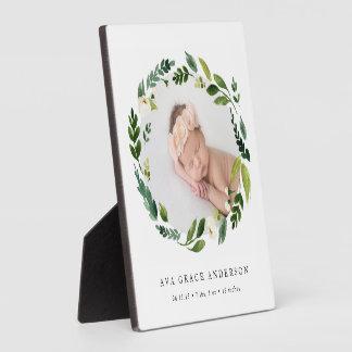 Alabaster-Blumenbaby-Foto Fotoplatte