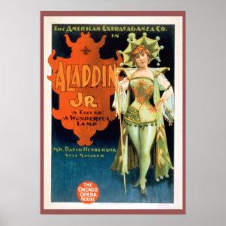 Aladdin Jr-Vintages Theater-Plakat Poster