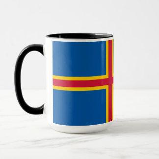 Aland Insel-Flagge Tasse