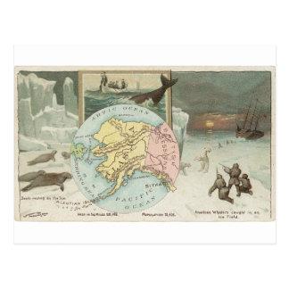 Alaska, 1889 Vintage Karte