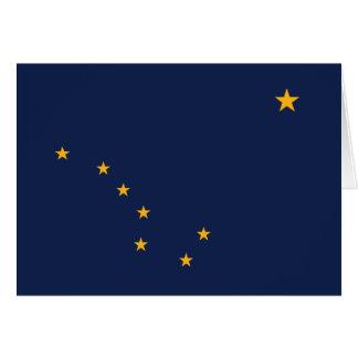 Alaska-Flagge Karte