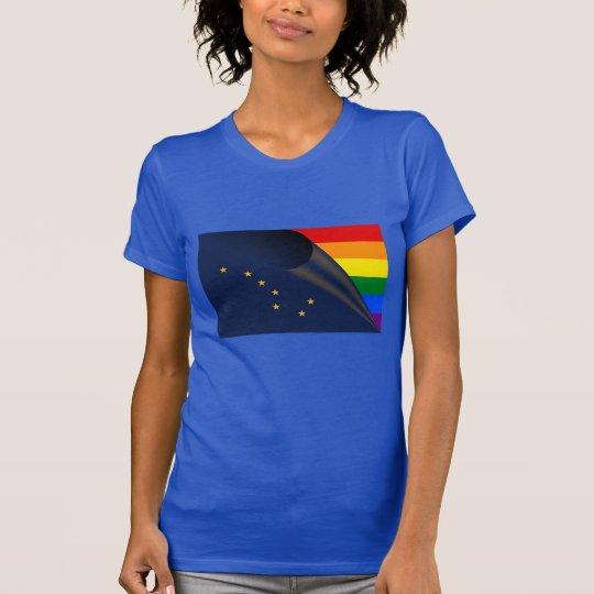 Alaska-Flaggen-Gay Pride-Regenbogen T-Shirt