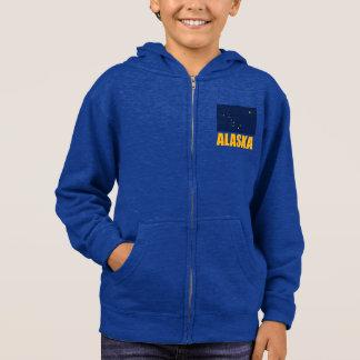 Alaska-Flaggen-gelber Text Hoodie