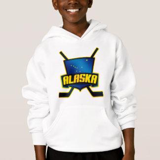 Alaska-Hockey-Flaggen-Logo Hoodie