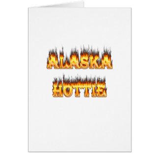 Alaska hottie Feuer und Flammen Karte