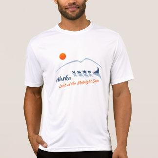 Alaska. Land des MitternachtsSun - Farblogo T-Shirt