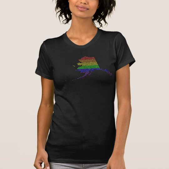 Alaska-Regenbogen-Stolz-Flaggen-Mosaik T-Shirt
