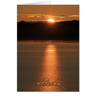 Alaska-Sonnenuntergang - reflektierend vor Ozean Karte