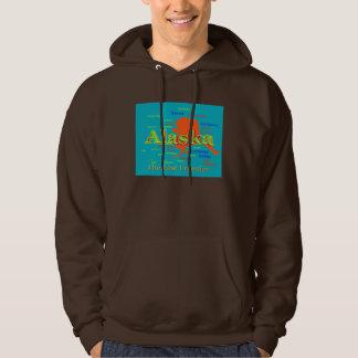 Alaska-Stolz-Karten-Silhouette Hoodie