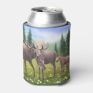 Alaskische Elch-Familie kann cooler Dosenkühler