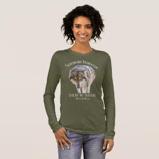 Alaskischer Timberwolf Langarm T-Shirt
