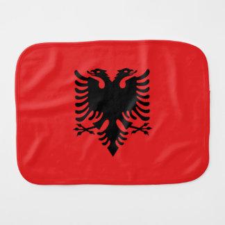 Albanien-Flagge Baby Spucktuch