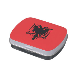 Albanien-Flagge Jelly Belly Dose