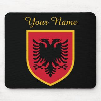 Albanien-Flagge Mousepad