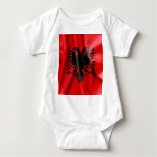 Albanien-Flaggen-Baby-Jersey-Bodysuit Baby Strampler