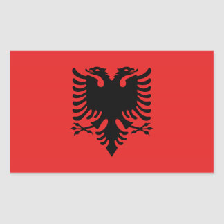 Albanische Flagge Aufkleber