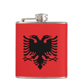 Albanische Flagge Flachmann