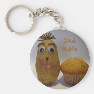 Albern bohren Sie Muffin Keychain Schlüsselanhänger