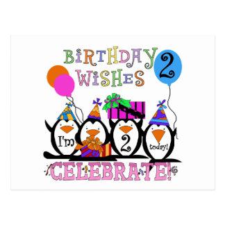 Alberne Penguins-2. Geburtstags-T - Shirts und Postkarte