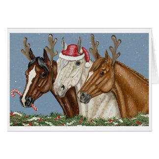 Alberne Pferdetrio-Weihnachtskarte Karte